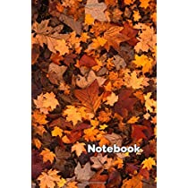 Notebook: College Ruled - 100 pages - Autumn Leaves Cover - Standard 6 x 9 inches - Lined Notebook