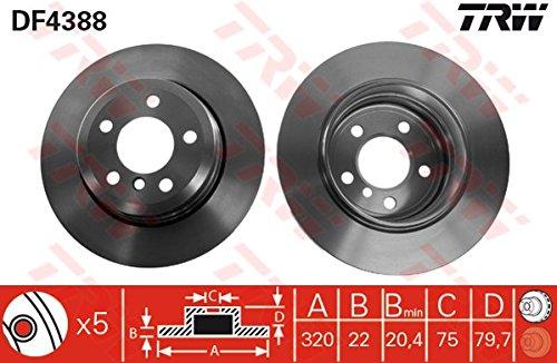 2x TRW Disque de frein HINTEN pour BMW X3 E83