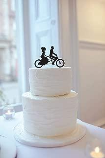 AIGUOQQ Wedding Cake Topper Bicycle, Wedding Cake Topper Tandem Bike, Tandem Bike Cake Topper, Wedding Cake Topper, Bike Cake Topper