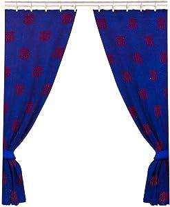 "FC Barcelona 66"" x 72"" Drop Polycotton Curtains Ready Made"