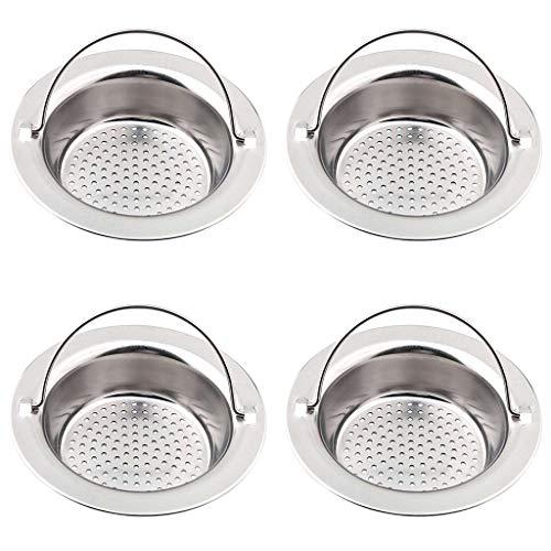 JIACUO RVS Sink Strainer Douche Vloerafvoer Badkamer Plug Trap Haar Catcher Keuken Sink Filter Vloerbedekking Drainage