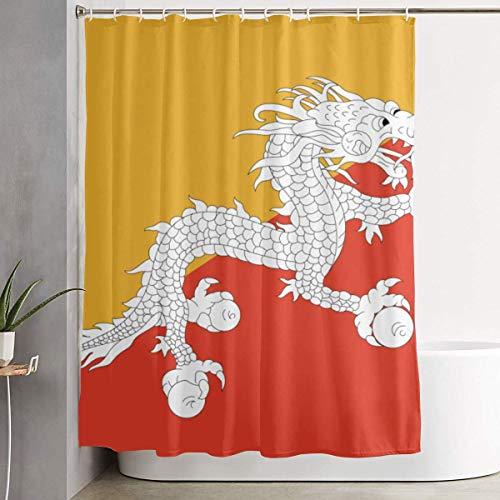 N/A douchegordijn met haken duurzaam waterdichtVoor decoratieve badkamer gordijn draak vlag