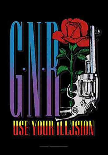 Guns N 'Roses – Use Your Illusion – poster drapeau Logo – 100% Polyester – Taille 75 x 110 cm