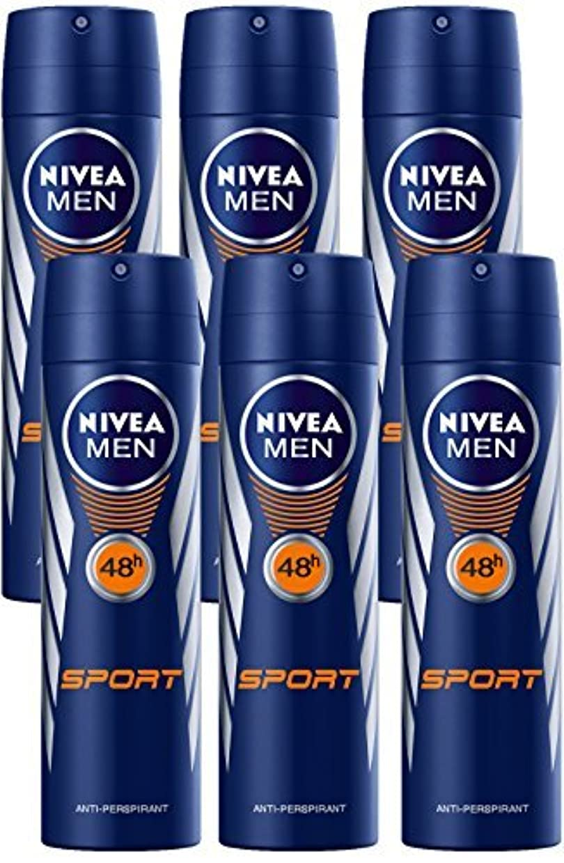 ブロック年折Nivea for Men Sport Deodorant/Antiperspirant Spray 150ML (6 Pack) - 並行輸入品 - Nivea for Menスポーツデオドラント/制汗剤スプレー150ML(6パック)