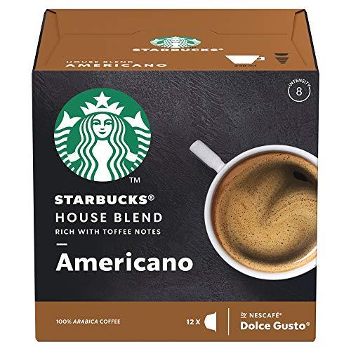 Starbucks House Blend Americano By Nescafé Dolce Gusto Caffè Lungo 12 Capsule