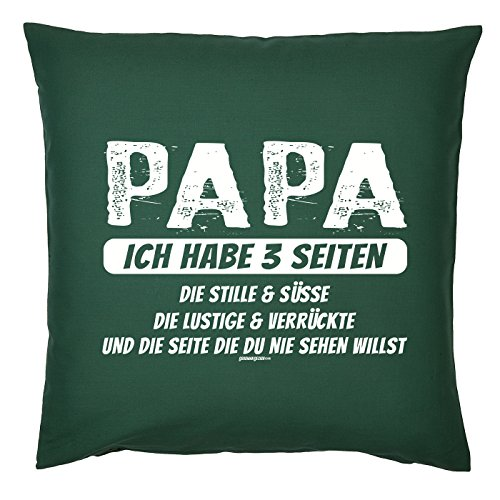 Art & Détail T-shirt Coussin : Papa Dad Père Jour Papa j'ai 3 Pages Les drôles et fous – Comme Présent
