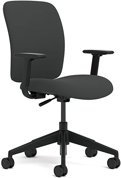 Steelcase Jack Task Chair With Swivel Tilt Mechanism By Turnstone Fabric Black Buzz2 Arms Fully Adjustable
