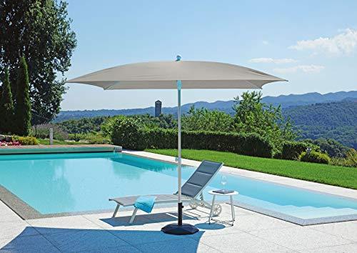 Gruppo Maruccia Sombrilla para playa y jardín, fabricada en Italia, 2,5 x 2,5 m, sombrilla redonda de aluminio, sombrilla para piscina (verde)