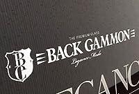 【LEGANCE】レガンス バックギャモンプリンタックステッカー ホワイト(23cm×4cm)