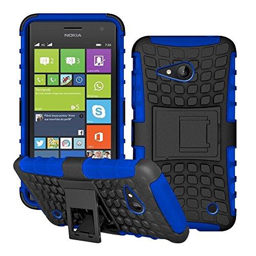 DEET® Nokia Lumia 730/735carcasa de protección resistente carcasa (azul)
