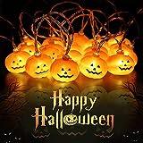 Halloween Decorazioni Lanterna Zucca Stringa, 3M/20 LED Luci di Zucca di Halloween Luci del Festival per la Decorazione di Interni Esterni