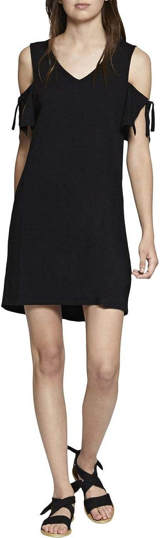 Sanctuary Womens Lakeside Cold Shoulder Daytime TShirt Dress Black L