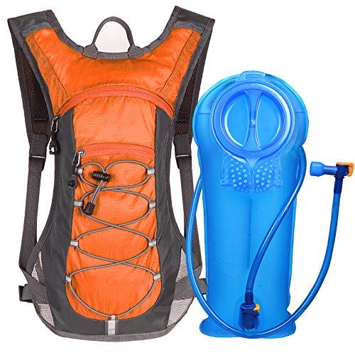 Unigear Mochila Hidratación Mochila Tactica Running Trail con 2L Deposito De Agua Desmontable Bolsa De Agua Múltiples Almacenamiento Compartimiento para Senderismo Ciclismo Camping Bicicleta