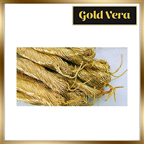 Best Review Of 24K Genuine Gold Thread for Embroidery, Crafting, Sewing, Decoration (#1)