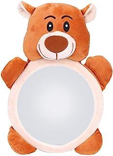 Espejo de Coche para bebés, Espejo Retrovisor Coche Bebe, Espejo para Asiento Trasero, Dibujos Animados Oso Patrón