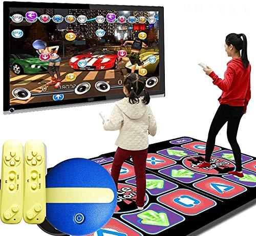 KTYX Alfombra Baile Doble para Niños Y Adultos - Alfombrillas de Baile Interactiva Inalámbricas Antideslizantes - con Controlador Independiente Y 2 Juegos de Joystick 60 - Plug & Play para PC TV