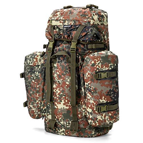 Commando Industries Army Mountain Rucksack Trekking Outdoor 100 Liter (BW-Flecktarn)