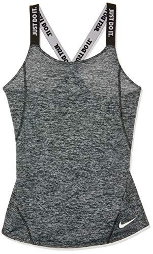 Nike Elstka Dry Tanktop da Ragazza, Bambina, AH3955-010, Nero/Nero/Bianco, L