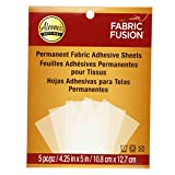 Aleene's Fabric Fusion Permanent Adhesive Sheets 5pc