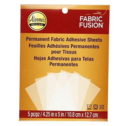 Aleene的织物融合永久粘片5%