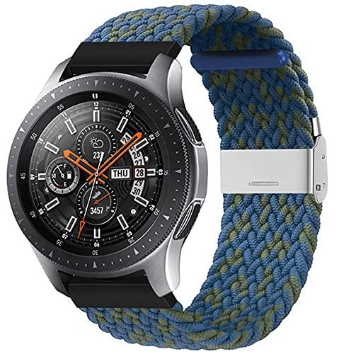 VeveXiao Correa compatible con Huawei Watch GT 46mm/GT2 Pro/GT2 46mm Mujeres Hombres, 22mm Ajustable Trenzado Solo Loop Elástico Pulsera Deportiva para Huawei Watch 3/3 Pro Nylon Band,