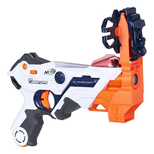 Hasbro Nerf Alphapoint - Armas de juguete (Pistola de juguete, 8 año(s), Niño, Multicolor, De plástico, Nerf Laser OPS Pro)