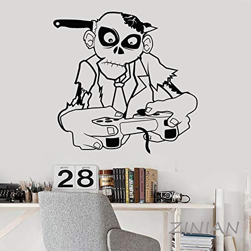 ShiyueNB Zombie Speel Muraux Game Zone Gamer Teen Room Decor VideoGames Joystick Wall Decal Wallpaper 42X48 cm B