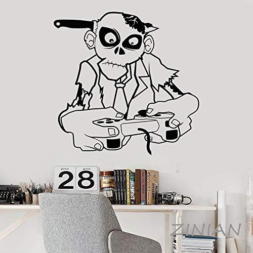 ShiyueNB Zombie Speel Muraux Game Zone Gamer Teen Room Decor VideoGames Joystick Wall Decal Wallpaper 42X48 cm B