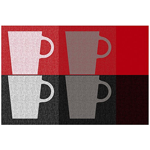 Kela 11751 Tasses Set de table Plastique Rouge 43,5 x 28,5 x 1 cm