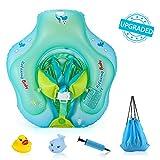 Delicacy Flotador de Natación para Bebés, Anillo de Natación Bebé Juguetes de Piscina Inflable de Piscina Nadar Anillo para Niños Bebés con Bomba Manual y Juguetes flotantes de 6 a 30 Meses de Edad