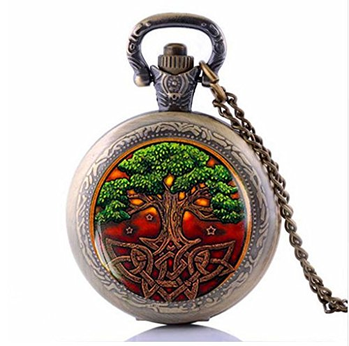 Celtic Tree of life Pocket Watch Necklace, Jewelry, Celtic Pendant