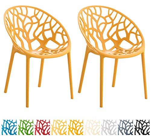 CLP 2er-Set Gartenstuhl Hope Aus Kunststoff I 2 x Wetterbeständiger Stapelstuhl Mit max. 150 KG Belastbarkeit, Farbe…