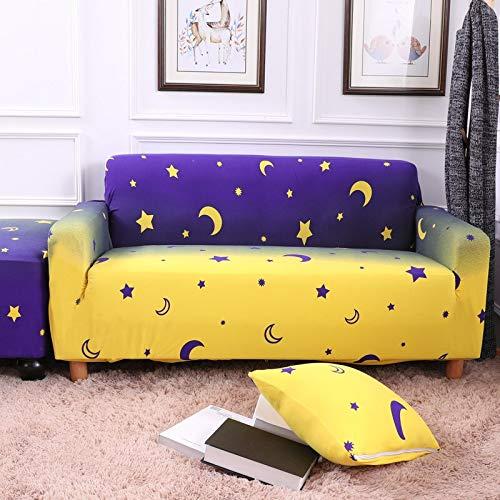 WXQY Funda de sofá elástica para Sala de Estar con Todo Incluido Funda de sofá Antideslizante elástica con combinación de Funda de sofá de Esquina en Forma de L A18 2 plazas