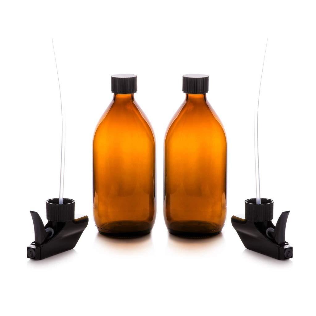 Compra Pulverizador de Aceite Botellas de vidrio con spray de aceite de la bomba del disparador 2 tapones reutilizables respetuosos del medio ambiente for la limpieza de la planta orgánica aceite esencial