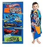 "Franco Kids Super Soft Cotton Beach Towel, 28"" x 58"", Hot Wheels"