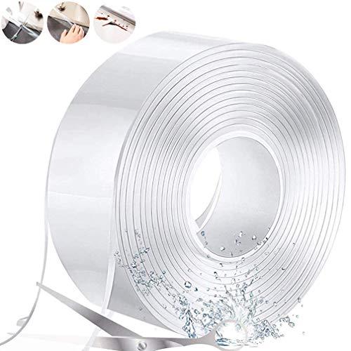 防カビテープ 補修テープ 防水テープ 台所コーナーテープ 隙間テープ 防水 防油 防カビ 汚れ防止 強粘着 耐熱 のり残らず 繰り返し 強力 透明 洗濯可能 多機能 台所 キッチン バスルーム 浴槽まわり ベランダ 洗面台用など (3CM*3M(1PCS)