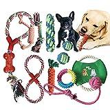 Pejoye Juguetes para Cachorros Perros Grandes Resistentes Pequeño Medio Durable Masticable Cuerda 10 Piezas