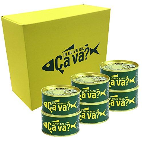 【6缶】 国産サバのオリーブオイル漬け レモンバジル味 170g×6缶ギフト