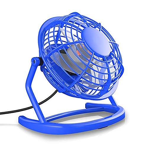 YWEIWEI Silent Small Fan USB Fan | Desk Fan | Best for Desktop Including Switch | Compatible PC MAC Laptop | Blue