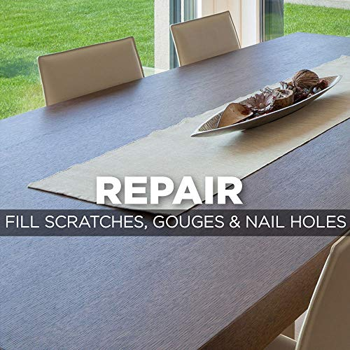 Weiman Wood Repair System Kit - 4 Filler Sticks 4 Touch Up Markers - Floor and Furniture Scratch Fix