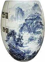 SweatEvaporating/Sauna/HealthyUrn/NanoAnion/NegativeIon/FarInfraredRay/Hyperthermia/Fumigate/PulseMagneticField/Porcelain/Underglaze Blue And White-glazed---High Mountain Ridges