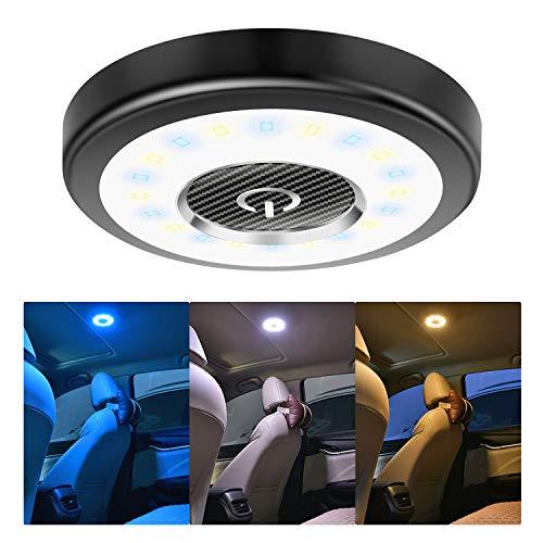 Leselicht LED Auto KFZ Farbwechsel, KFZMAN Magnetisch Auto Dach Nachtlicht Kofferraum Lampe USB Wiederaufladbare LED Leuchte für Auto/LKW/Schrank/Wand/Camping/Boot/Wohnwagen/Zimmer