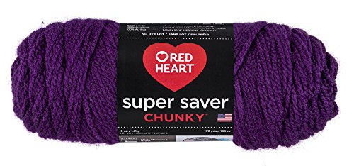 Red Heart Super Saver Chunky, Dark Yarn, DK Orchid