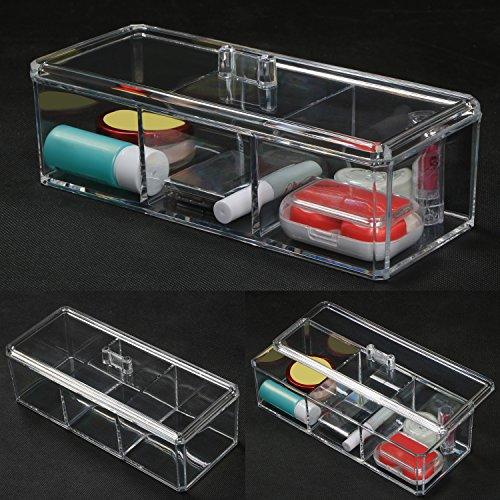 TRIXES Boîte de Rangement Transparente en Plastique pour Cosmétiques Bijoux Artisanat