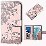 Annuo - Étui portefeuille pour Samsung S8 - Coque de protection contre les chocs - En cuir - Avec...