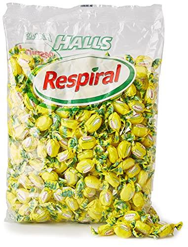 Halls Respiral - Caramelos Duros Sabor Limón y Mentol, Caramelos, Sabor Limon, 1000 Gramos