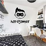 wZUN Calcomanía de Pared Controlador Pegatina decoración del hogar niños Dormitorio Personalizado Sala de Juegos Vinilo Pared calcomanía 85X96cm