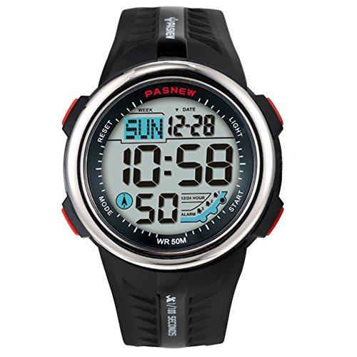Heren Sport Horloge Tiener Outdoor Nachtlampje Hardlopen Echografie Waterproof-D