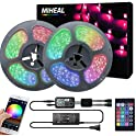 Miheal 65.6ft Non-Waterproof Strip Light Kit with Android and iOS System