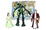 Kinder Überraschung, Las tres figuras de HDR del calendario, Arwen, Elrond y barba.